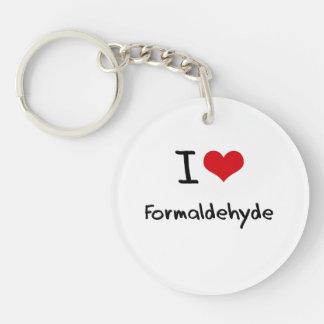 I Love Formaldehyde Single-Sided Round Acrylic Keychain