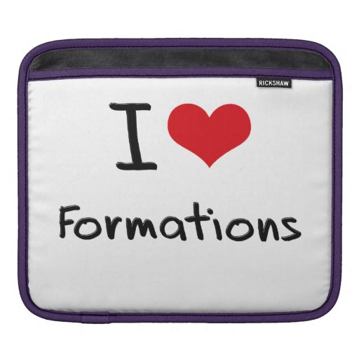 I Love Formations iPad Sleeves