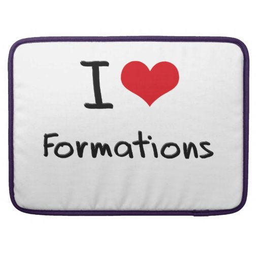 I Love Formations MacBook Pro Sleeves