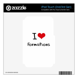 I Love Formations Skins For iPod Touch 3G