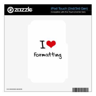 I Love Formatting iPod Touch 2G Skin