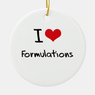 I Love Formulations Double-Sided Ceramic Round Christmas Ornament