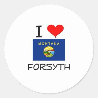 I Love Forsyth Montana Classic Round Sticker