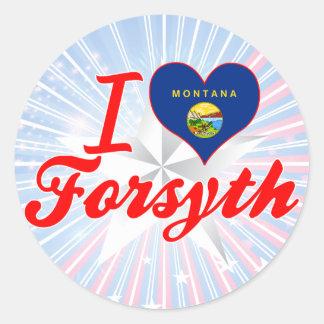 I Love Forsyth, Montana Classic Round Sticker