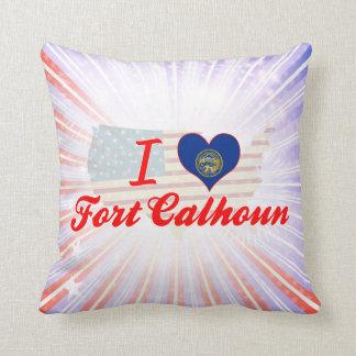 I Love Fort Calhoun, Nebraska Throw Pillow