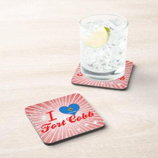 I Love Fort Cobb, Oklahoma Beverage Coasters