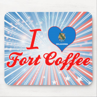 I Love Fort Coffee, Oklahoma Mouse Pads
