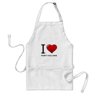 I LOVE FORT COLLINS, CO - COLORADO ADULT APRON