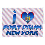 I love Fort Drum, New York Greeting Card