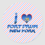 I love Fort Drum, New York Stickers