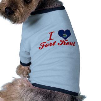 I Love Fort+Kent, Maine Doggie Tee Shirt