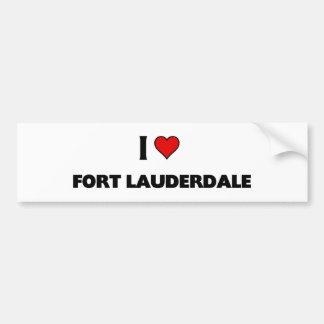 I love Fort Lauderdale Bumper Sticker