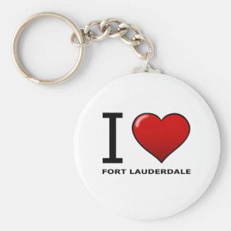 I LOVE FORT LAUDERDALE, FL - FLORIDA KEYCHAIN
