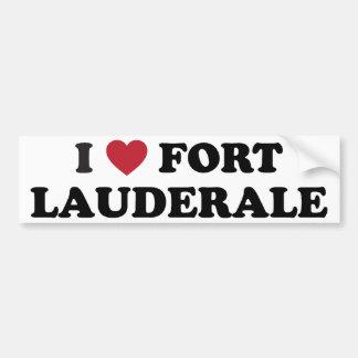 I Love Fort Lauderdale Florida Car Bumper Sticker