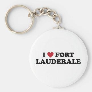 I Love Fort Lauderdale Florida Keychain