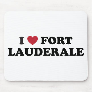 I Love Fort Lauderdale Florida Mouse Pad