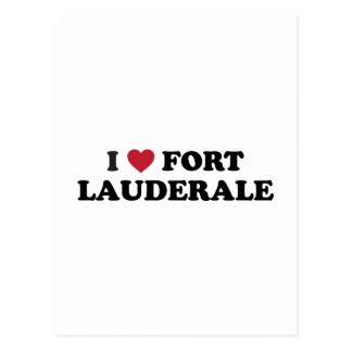 I Love Fort Lauderdale Florida Postcard