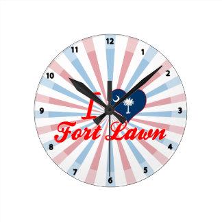 I Love Fort Lawn South Carolina Wallclocks