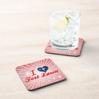 I Love Fort Lawn South Carolina Drink Coaster