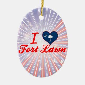 I Love Fort Lawn South Carolina Christmas Ornament