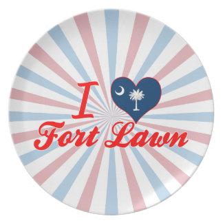 I Love Fort Lawn South Carolina Party Plates
