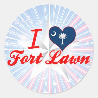 I Love Fort Lawn South Carolina Round Sticker