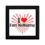 I Love Fort McMurray, Canada Jewelry Boxes