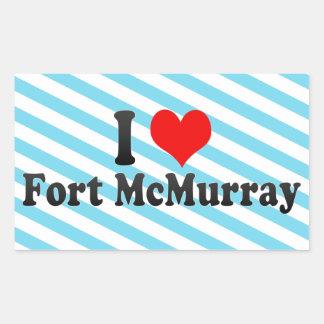 I Love Fort McMurray, Canada Rectangular Sticker