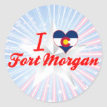 I Love Fort Morgan, Colorado Round Sticker