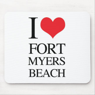 I Love Fort Myers Beach Mouse Pad