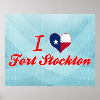 I Love Fort Stockton, Texas Poster