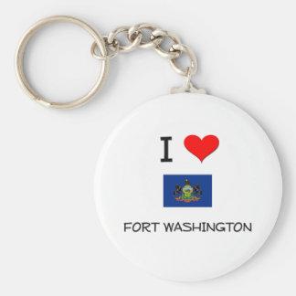 I Love Fort Washington Pennsylvania Keychains