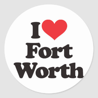 I Love Fort Worth Classic Round Sticker