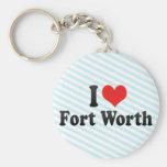 I Love Fort Worth Keychain