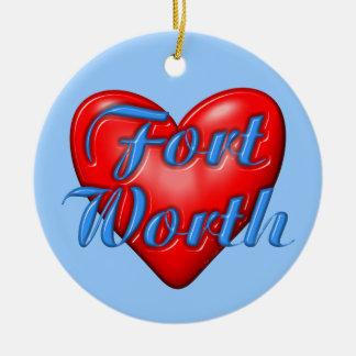 I Love Fort Worth Texas Christmas Ornaments