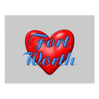 I Love Fort Worth Texas Postcard