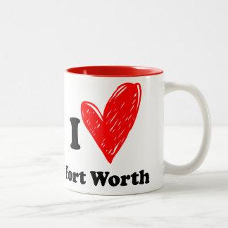 I love Fort Worth Two-Tone Coffee Mug