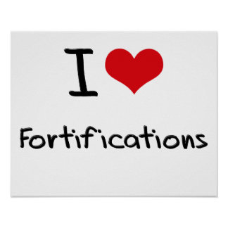 I Love Fortifications Poster