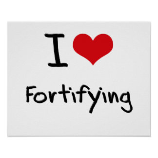 I Love Fortifying Posters