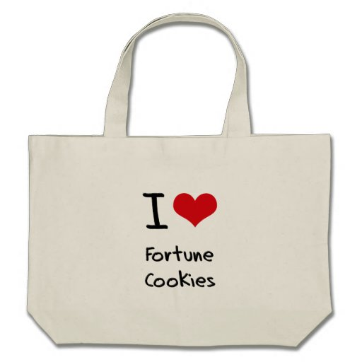 I Love Fortune Cookies Canvas Bag