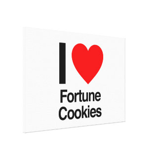 i love fortune cookies canvas print