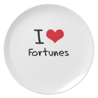 I Love Fortunes Dinner Plates