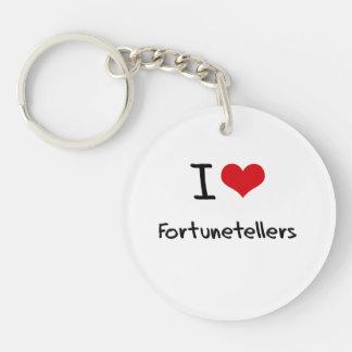 I Love Fortunetellers Single-Sided Round Acrylic Keychain