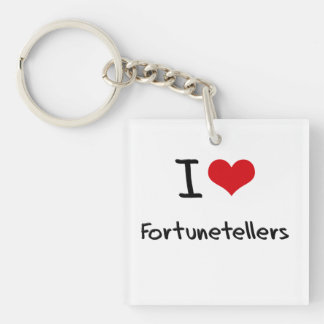 I Love Fortunetellers Single-Sided Square Acrylic Keychain