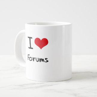I Love Forums Extra Large Mug