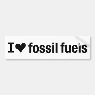 I Love Fossil Fuels Bumper Sticker Car Bumper Sticker