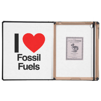 i love fossil fuels cases for iPad
