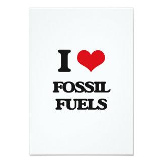 i LOVE fOSSIL fUELS 3.5x5 Paper Invitation Card