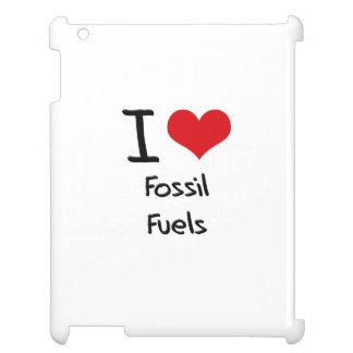 I Love Fossil Fuels iPad Case