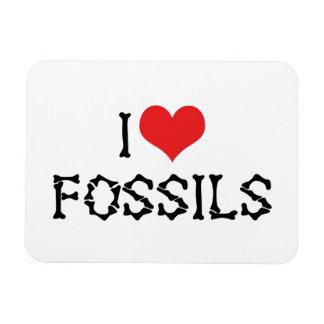 I Love Fossils Rectangular Photo Magnet